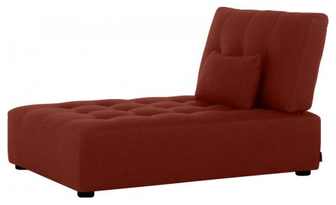 Chaiselongue aus Stoff, bordeauxrot