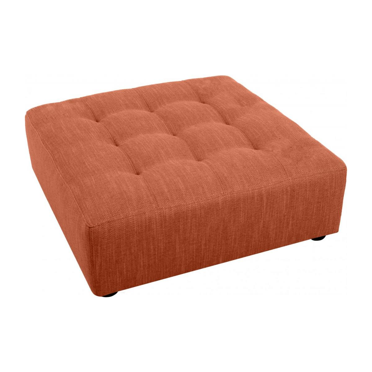 Fußhocker aus Stoff - Orange n°2