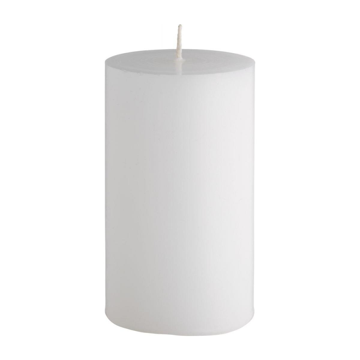 Bougie cylindre 10cm blanche