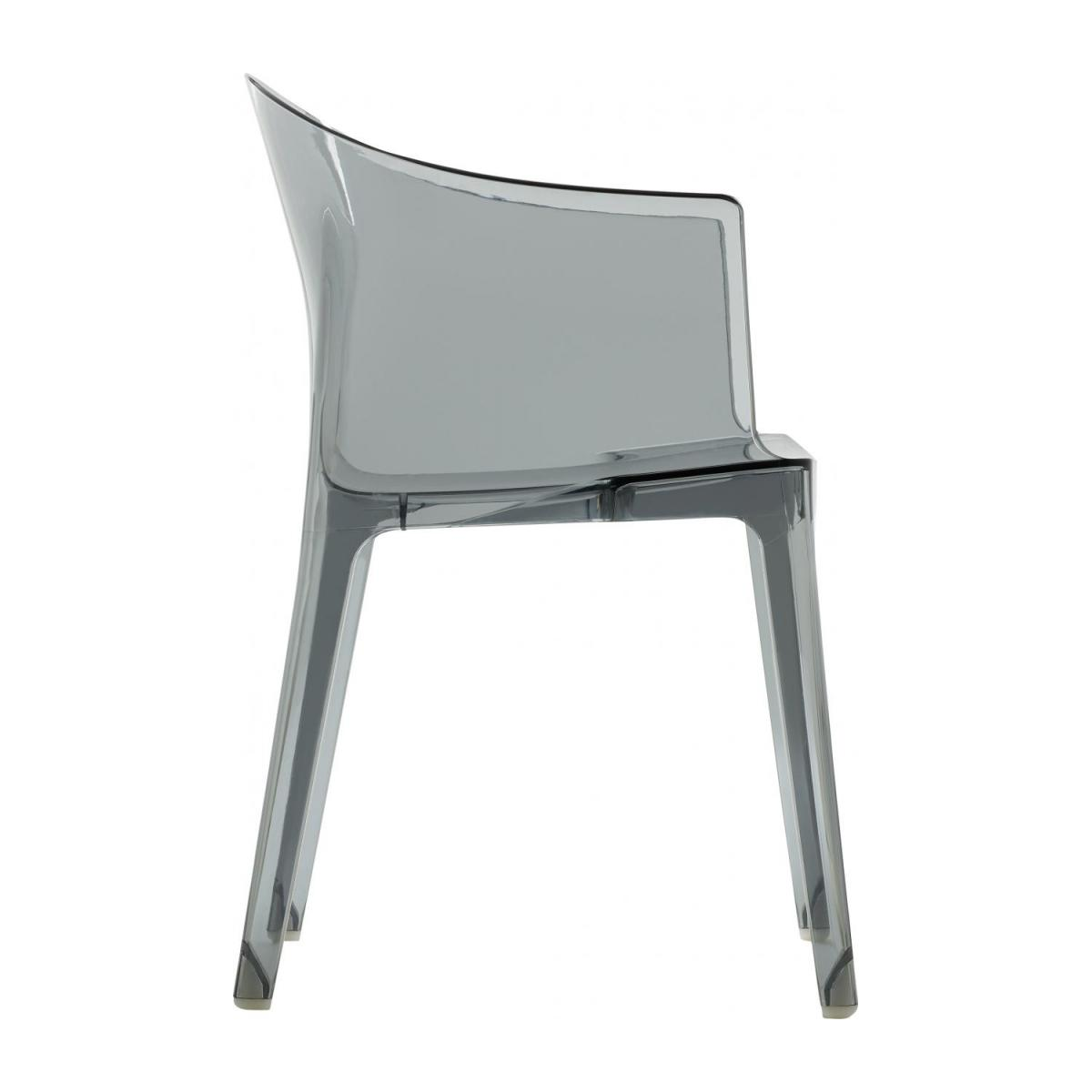 Smokey grey armchair in polycarbonate n°5