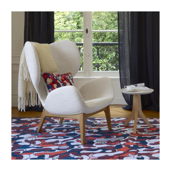 Armchair in Fasoli fabric, snow white n°2