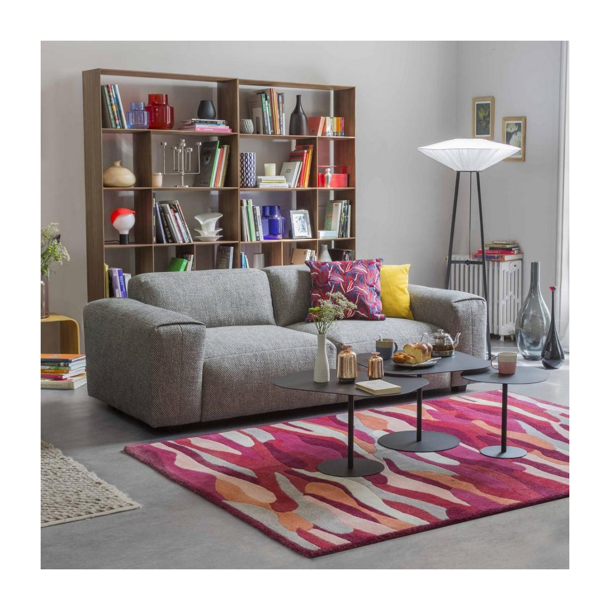 3 seater sofa with chaise longue on the left in Fasoli fabric, snow white n°2