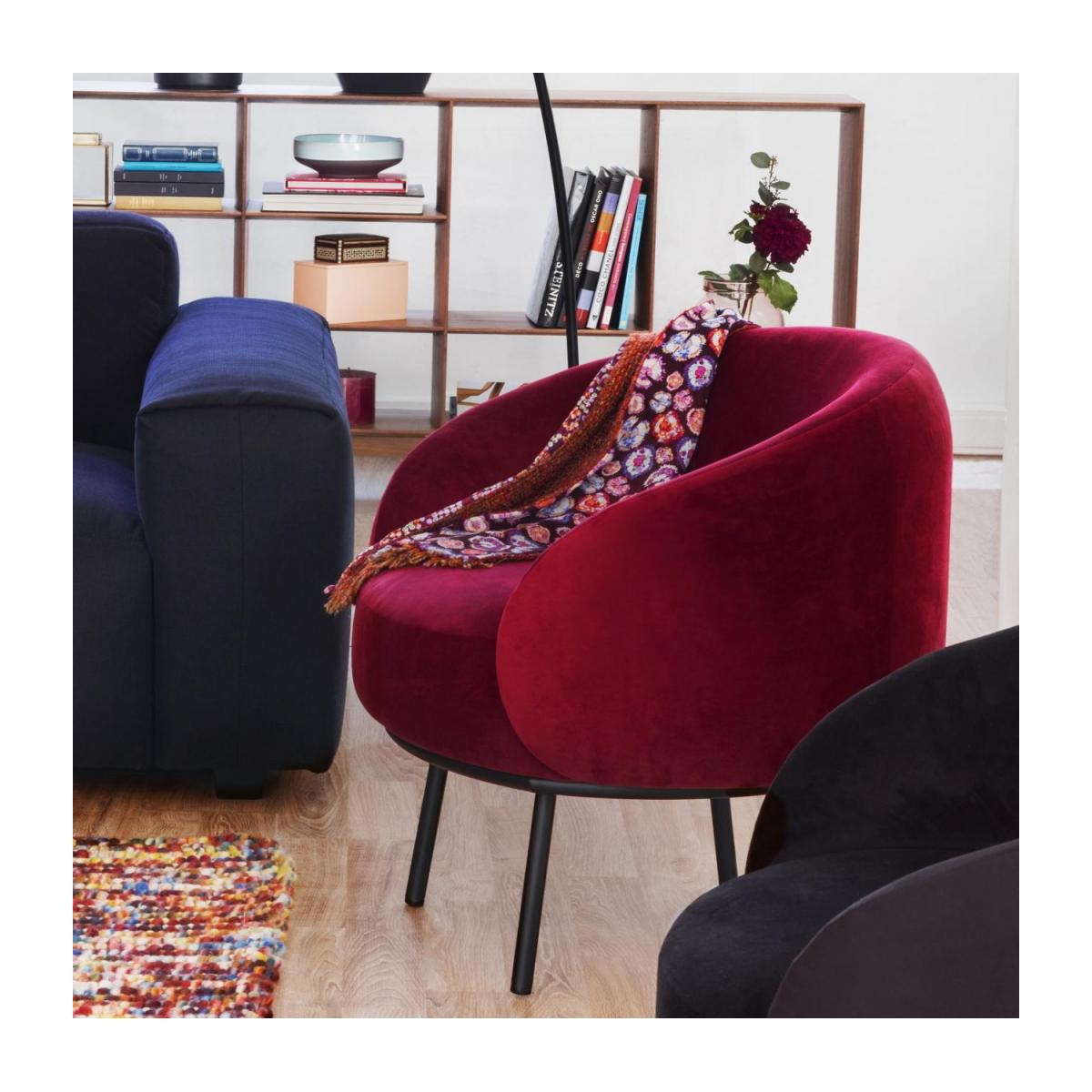 Fauteuil en velours - Lie-de-vin  - Design by Adrien Carvès n°2