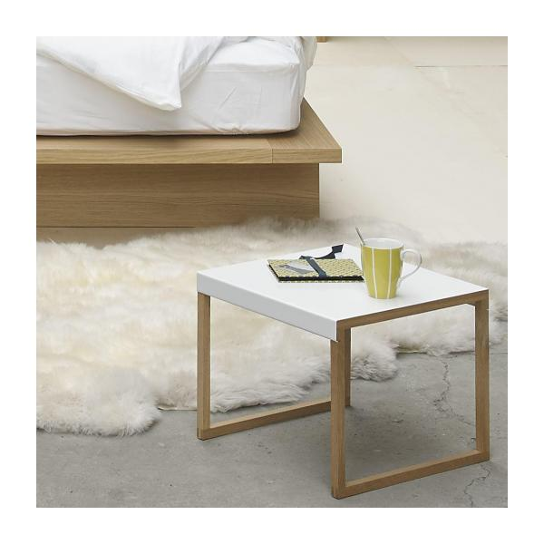 Accent table made of metal and solid oak n°2