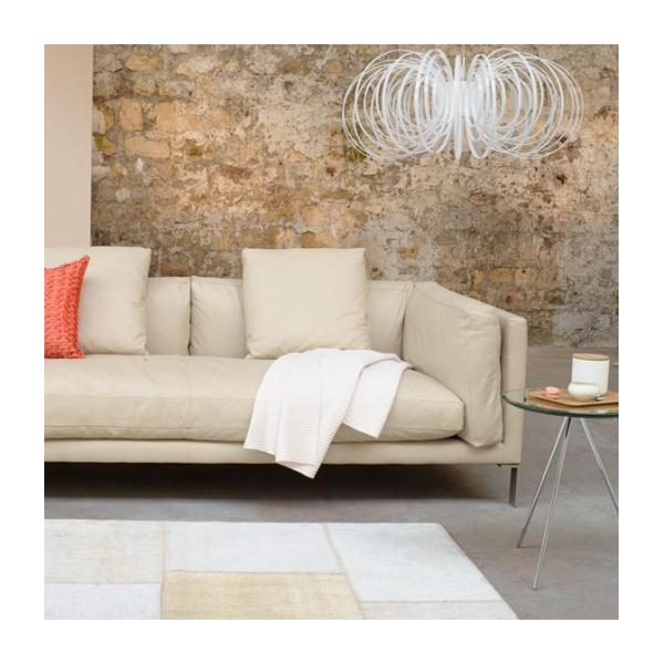 Leather 3 seater sofa n°2