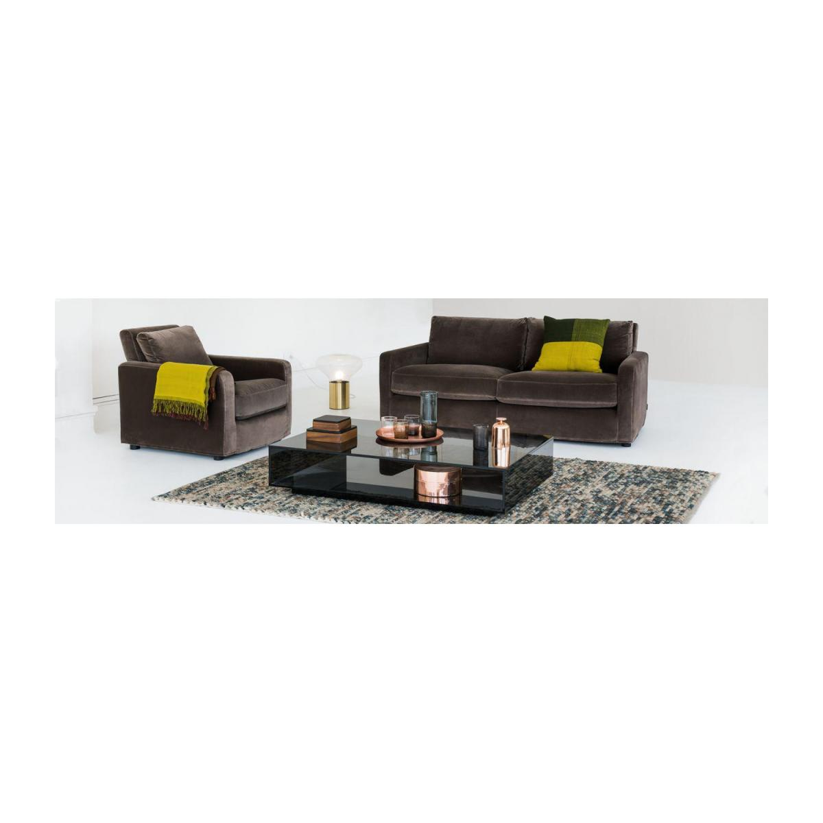 Compact leather sofa n°2