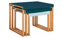 Tables gigognes - Bleu paon