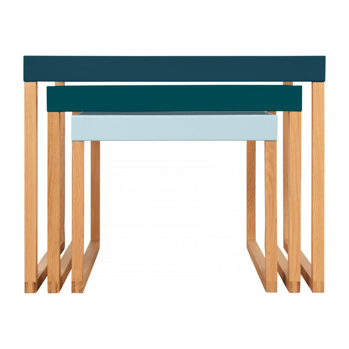 Tables gigognes - Bleu paon n°4