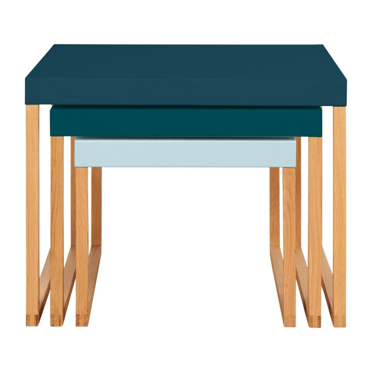 Tables gigognes - Bleu paon n°3