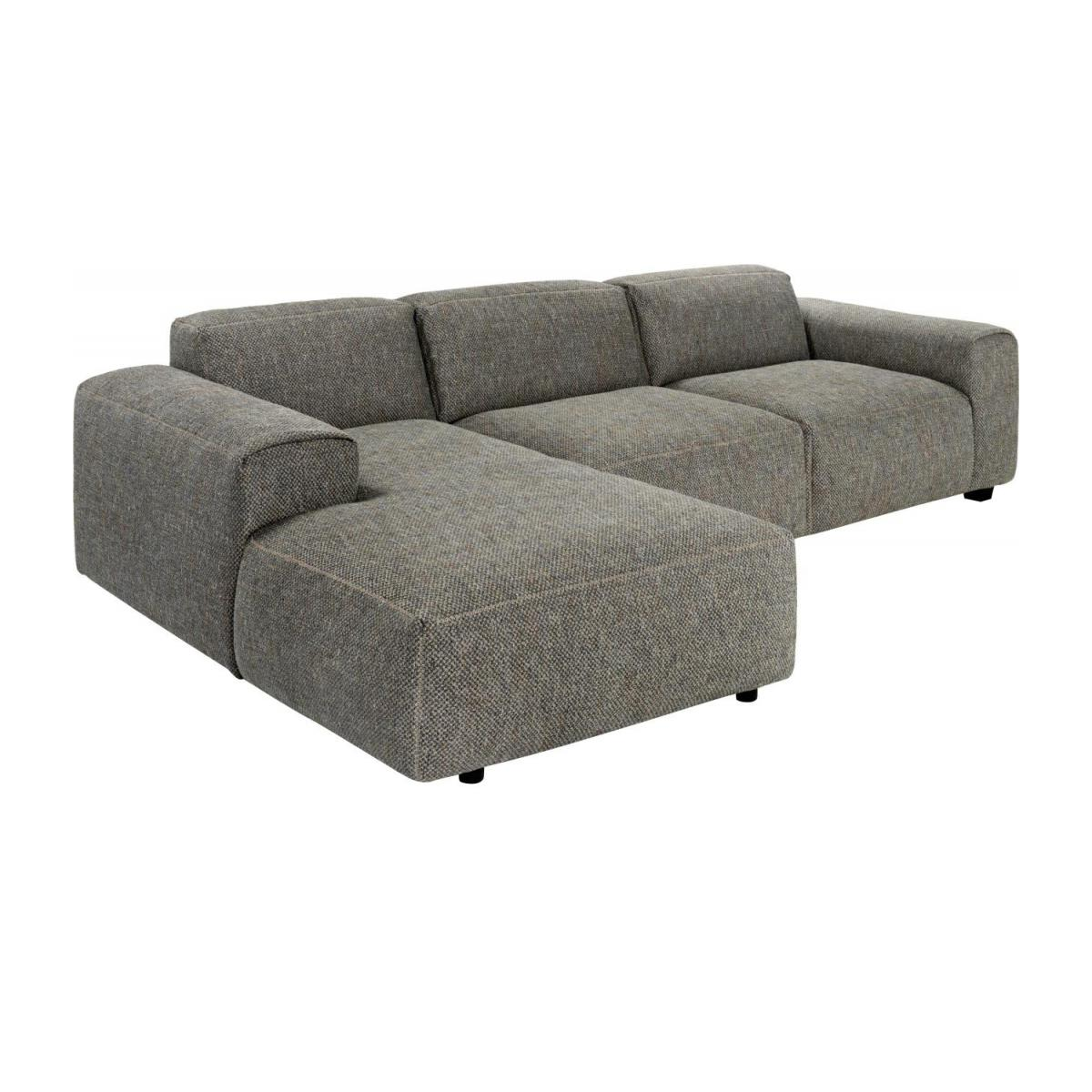 Sofá 3 plazas con chaiselongue izquierda de tela Bellagio night black n°1