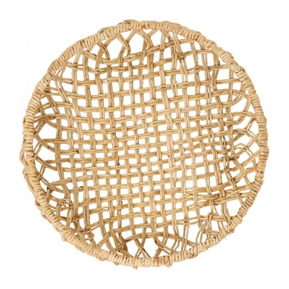 Plateau rond en abaca - Taille M n°3
