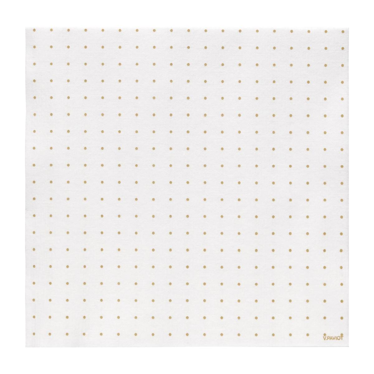 Serviette - Pois or - Papier n°2