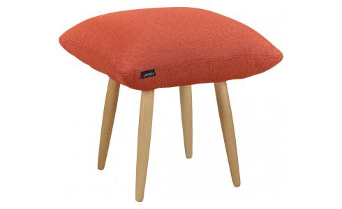Hocker aus Stoff, orange