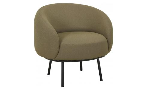 Sessel aus Stoff, khaki - Design by Adrien Carvès