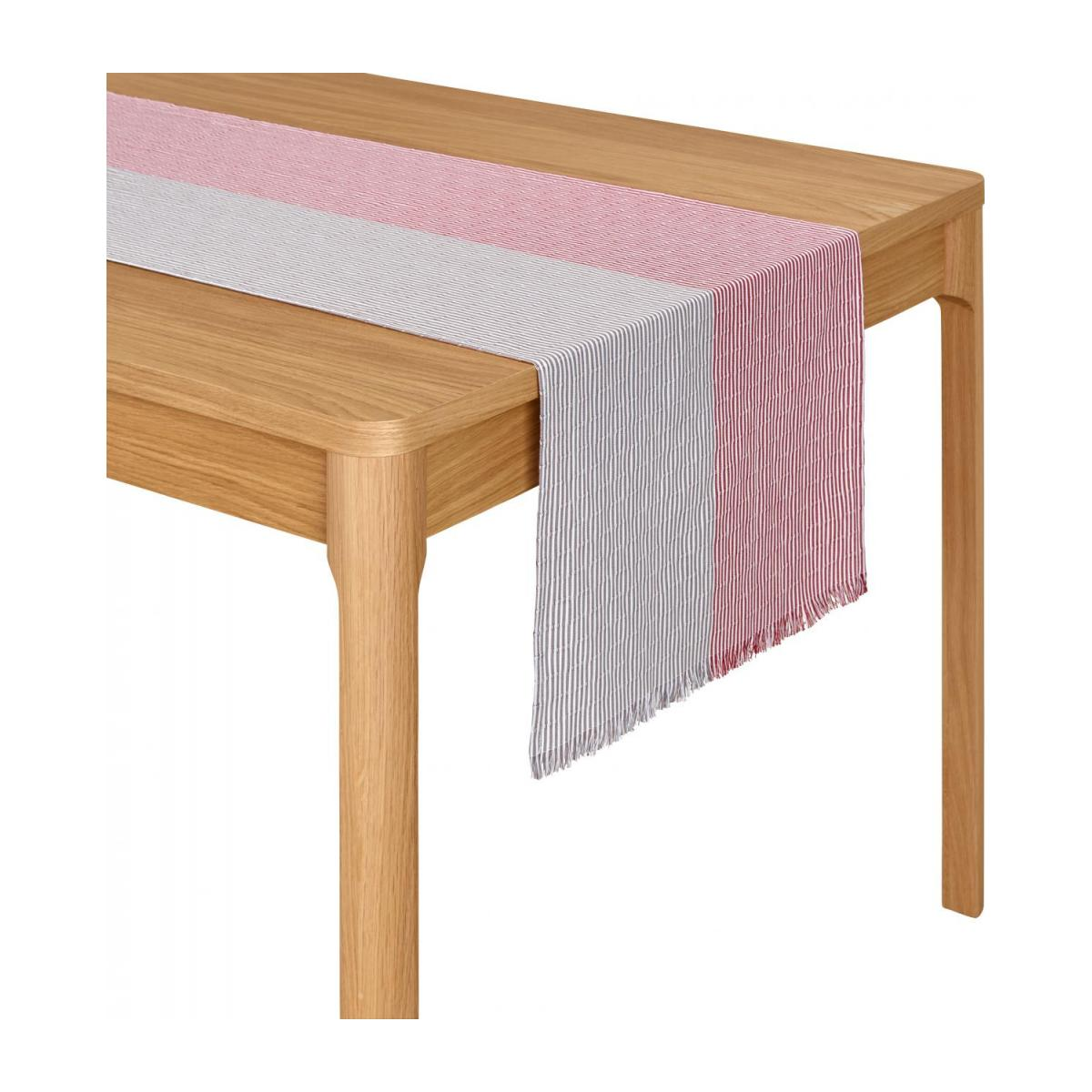 Chemin de table en coton - 45 x 200 cm - Rouge et Taupe n°2