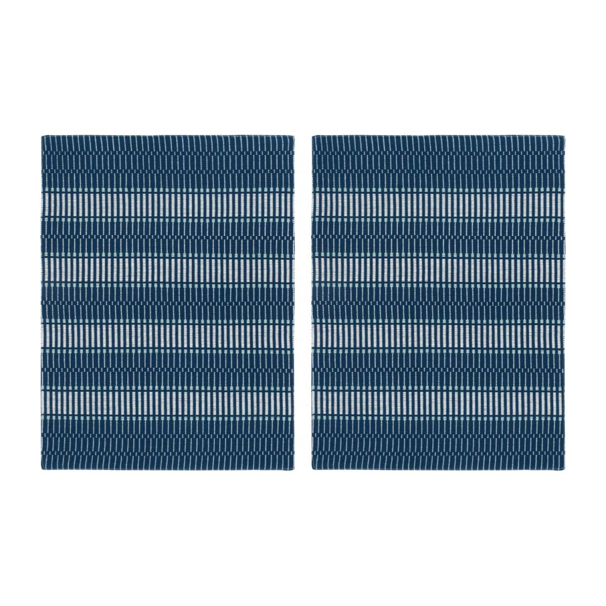 Lot de 2 sets de table en coton - 45 x 36 cm - Bleu n°1