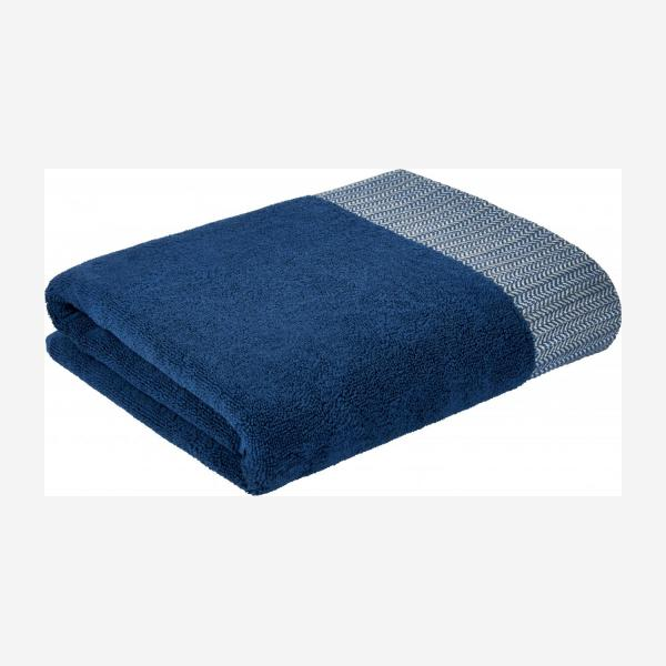 Blue bath towel 70 x 140